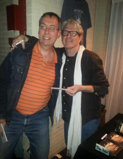 Rob met Sam Baker